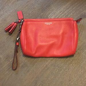 Coach Red Wristlet Wallet